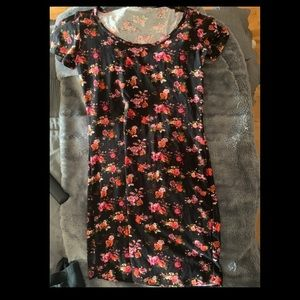 Floral Short Sleeve Bodycon Dress